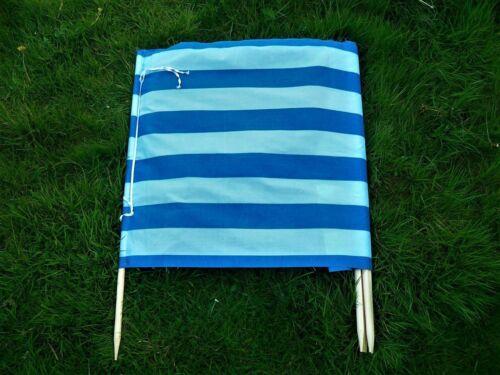 3,4,6,8,10m Vintage Beach Windbreak Wood Pole Holiday Camping Garden Sun Screen