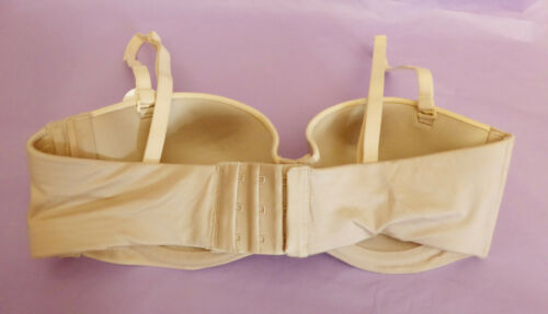 Marks /& Spencer 32B C BNWT natural Sumptuously Soft strapless//multi balcony bra