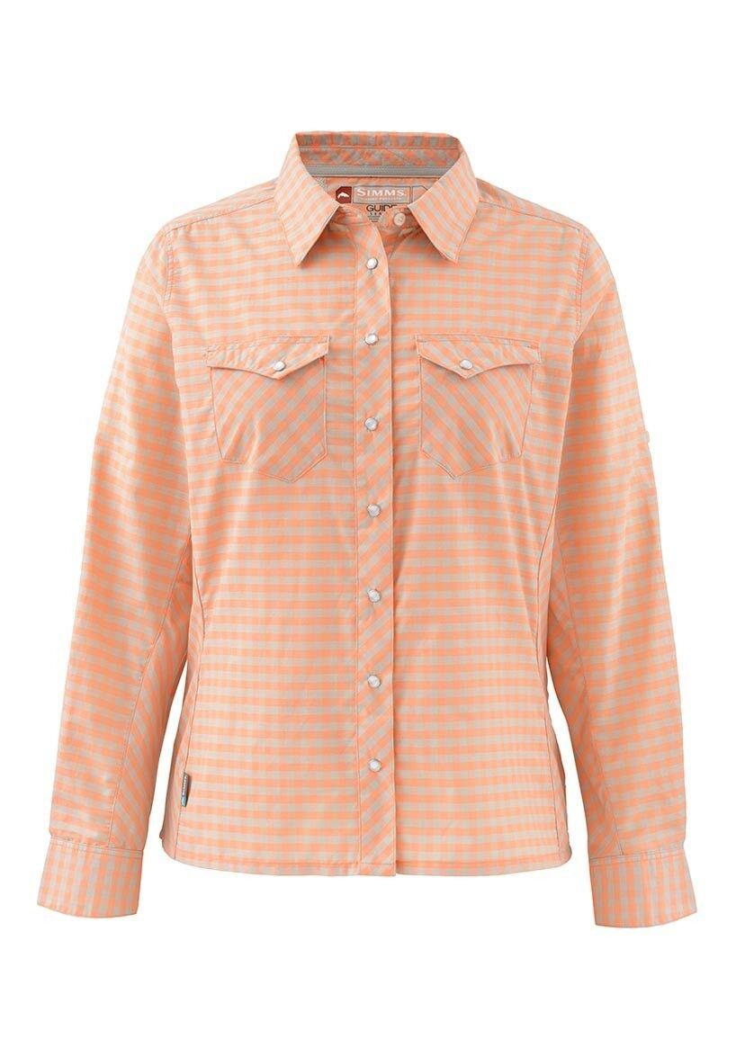 Simms Women's BIG SKY Long Sleeve Shirt   Melon Plaid NEW  Closeout Size Medium  we supply the best