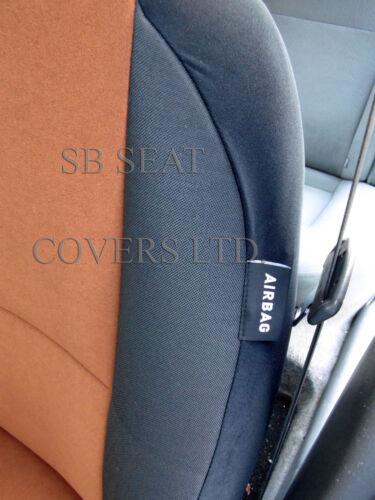 passend für Ford Ranger braun Wildleder Autositzbezüge