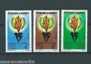 DAHOMEY-1963-YT-202-a-204-TIMBRES-NEUFS-petit-charniere