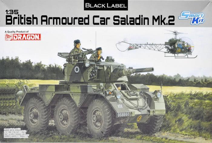 Dragon 1 35 scale 1 35 BRITISH ARMORED CAR SALADIN