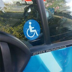 1-Rollstuhlfahrer-Behindert-Autoaufkleber-8cm-Rund-innen-an-Scheibe-zu-kleben