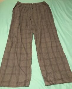 Mens Pajama Pants Bottom Fleece Cotton Knitted Sleepwear Relaxed Lounge S M L XL