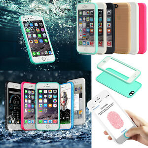 meet 6b34c ba90e Details about Waterproof Shockproof Hybrid Rubber TPU Phone Case Cover Fr  iPhone X 7 6S 8 Plus