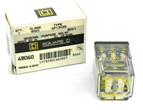 SQUARE D CLASS 8501 TYPE KP13V20 11 PIN PLUG IN GENERAL PURPOSE RELAY SERIES D