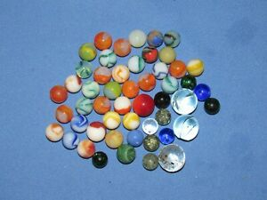 ANTIQUE-LOT-OF-MARBLES