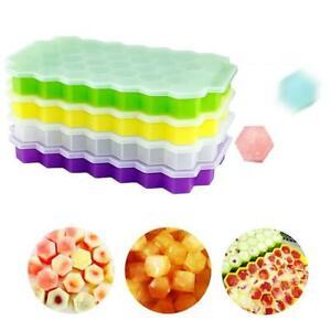 Silicone-Ice-Bac-a-Glacons-Moule-Mold-37-Cubes-de-Glace-Conteneur-de-Congelation