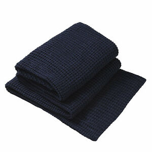 PRIVATE-COLLECTION-Langley-Navy-Knitted-Throw-Rug-150-x-200cm-BRAND-NEW