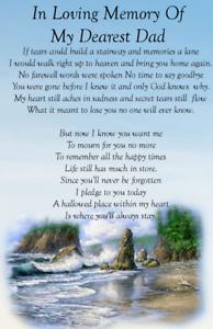 DAD SON  BROTHER in loving Memory Bereavement  Graveside Memorial  Card M69b