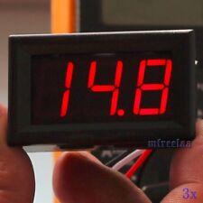 3pcs DC 0-30V Red LED 3-Digital Display Voltage Meter Voltmeter Panel Motorcycle