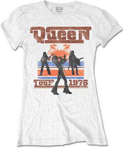 QUEEN 1976 Tour Silhouettes WOMENS GIRLIE T-SHIRT OFFICIAL MERCHANDISE