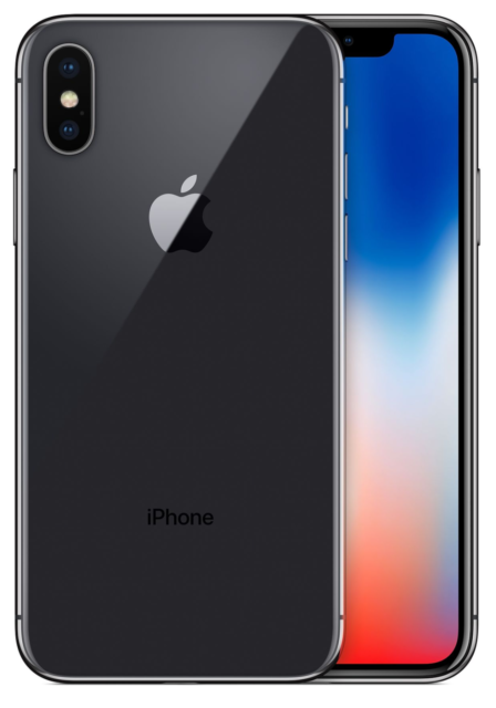 Apple iPhone X - 64GB - Space Gray (Unlocked) A1865 (CDMA + GSM) FACE ID BAD
