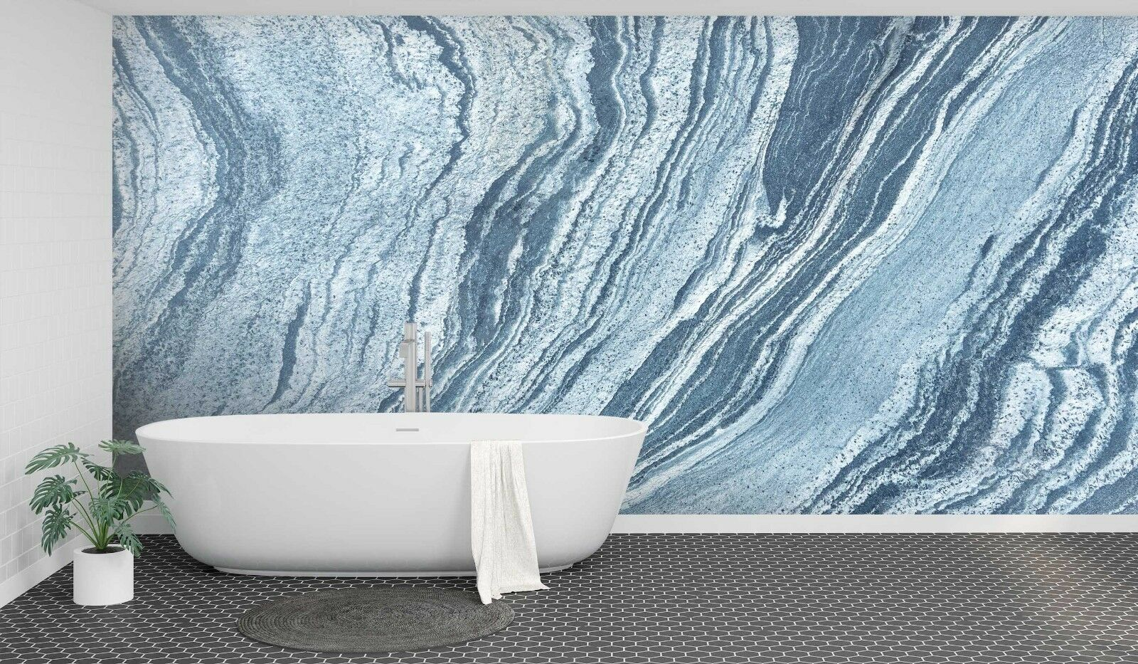 3D Vast Rivers White 1 Texture Tiles Marble Wall Paper Decal Wallpaper Mural AJ