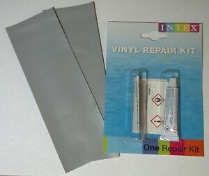intex vinyl pvc patch glue cement repair kit inflatable raft boat kayak pool ebay. Black Bedroom Furniture Sets. Home Design Ideas