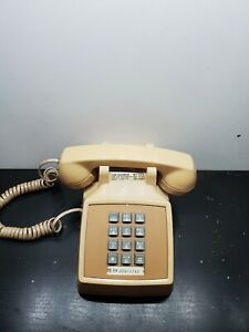 Vintage-1979-Bell-System-Western-Electric-2500-Tan-Desk-Telephone-Phone-Retro