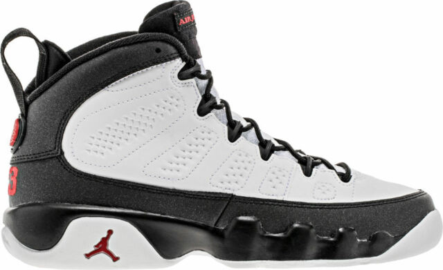 Air Jordan 9 Retro Bg Space Jam Ix Youth Sneakers White Black Red