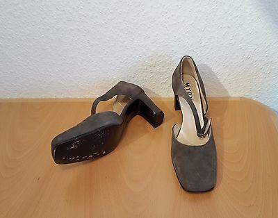 MYRYS High Heels Pumps Damenschuhe Gr.38 - 7cm Absätze grau