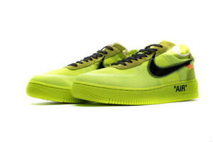 Nike Air Force 1 X Off White ( Volt ) dal 36 alla 45