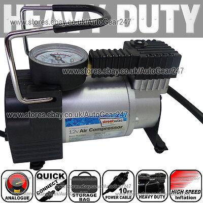 150 Psi Hi Speed 12v 4x4 Car Van Bike Tyre Air Compressor Inflator Electric Pump
