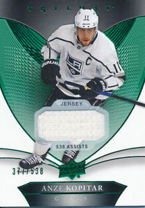 2018-19-Upper-Deck-Trilogy-44-Anze-Kopitar-Relics-Jersey-Base-Parallel