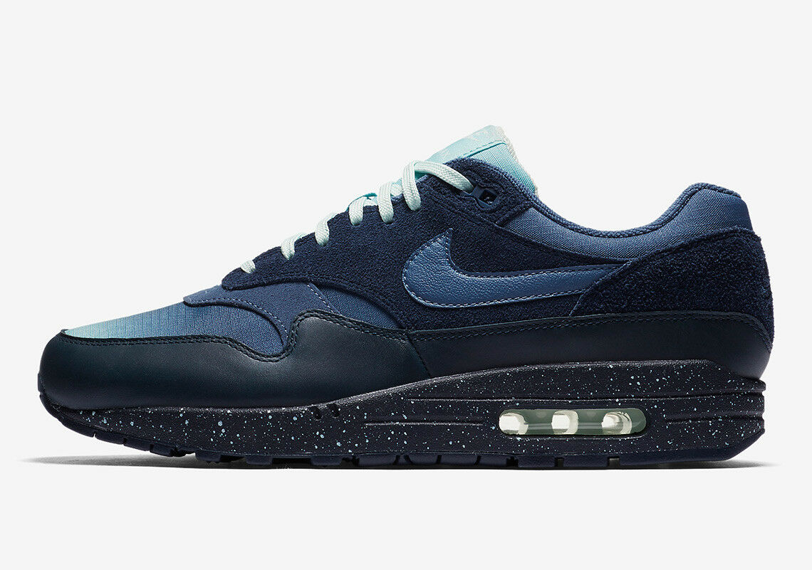 Uomo NIKE AIR MAX 1 OBSIDIAN/DIFFUSED PREMIUM SHOE OBSIDIAN/DIFFUSED 1 BLUE *NEW!* 4be326
