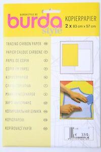 Papel-de-copia-2x-83cm-x-57cm-Blanco-y-amarillo-de-Burda-ART-nr-1300