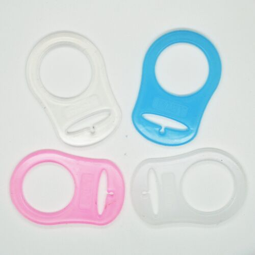 20mm Silicone Ring Style Dummy Clip Adapter Holder Pink Blue White Clear