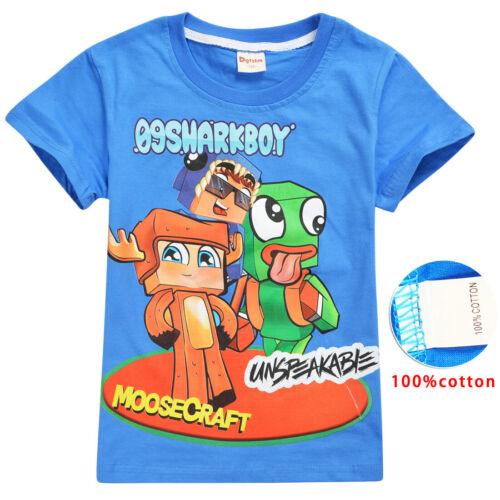 Moosecraft Unspeakable Sharkboy childrens Tshirt Youtube gaming Kids Best Gifts