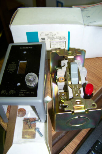 nib siemens smf fg1p manual motor starter toggle switch 1 pole