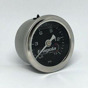 Fragola-1-5-034-Direct-Mount-Liquid-Filled-0-15-PSI-Fuel-Pressure-Gauge-FRA00015