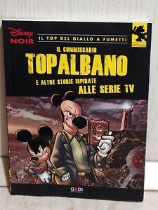 Il Commissario Topalbano Disney Noir 3 Top giallo fumetti topolino 2018 Gedi