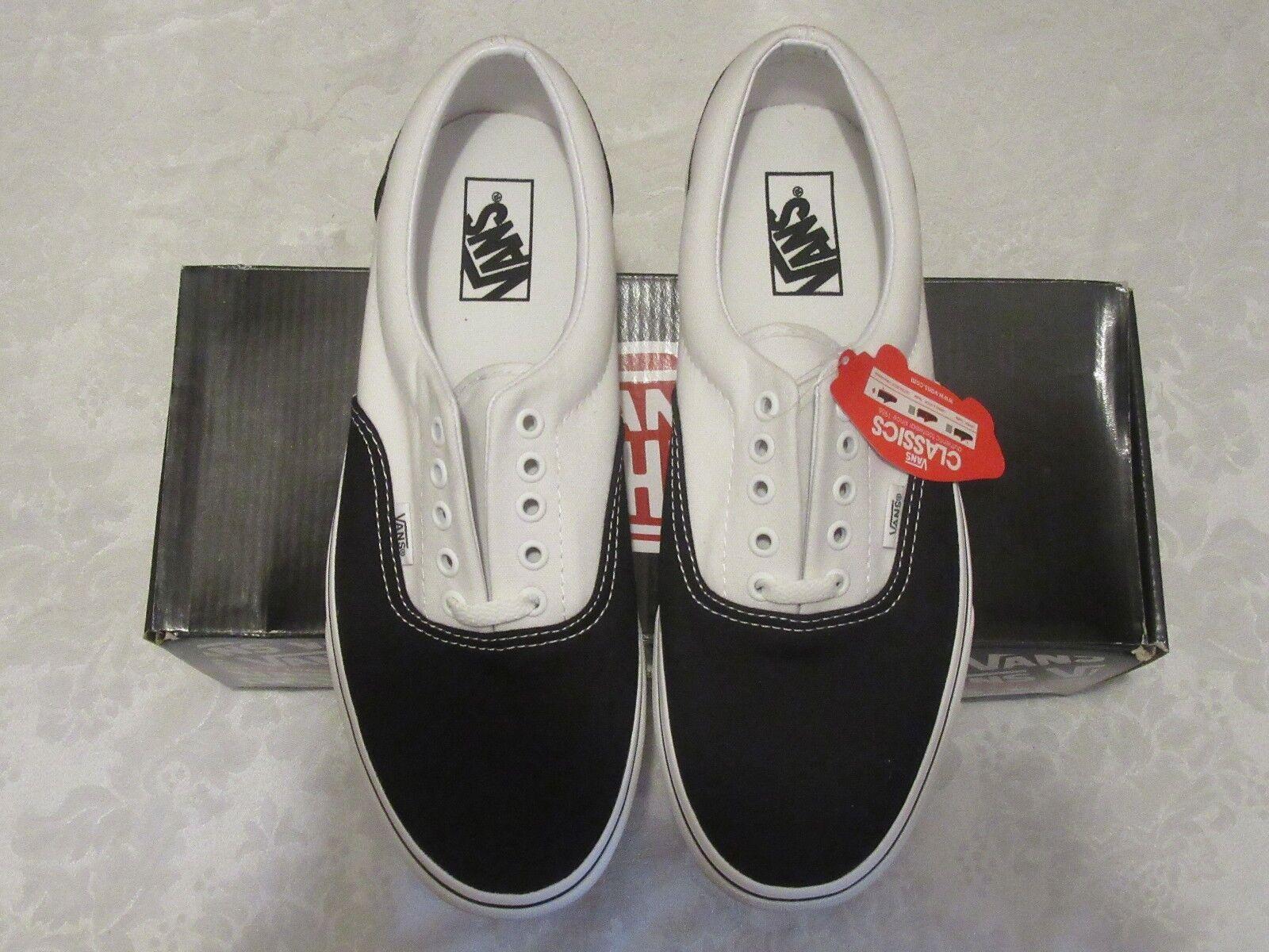Vans Era Two Tone Black True White 00499581 VN-0EWZ4D8 Size 10.5 Sneakers