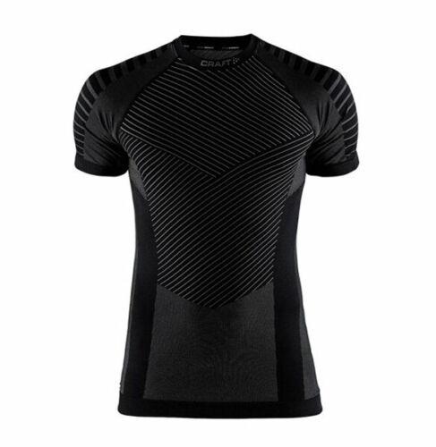 Men/'s Functional Shirt CRAFT Intensity Compression short Sleeve Black Grey
