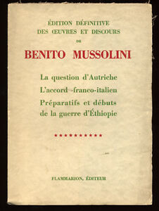 BENITO-MUSSOLINI-OEUVRES-ET-DISCOURS-TOME-10-AUTRICHE-ETHIOPIE