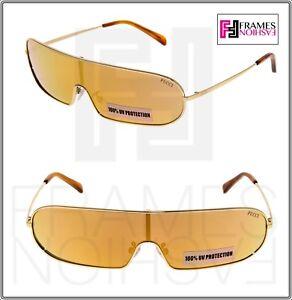 99f06c7449 EMILIO PUCCI EP68 Thin Wrap Futuristic Gold Mirrored Sunglasses EP ...