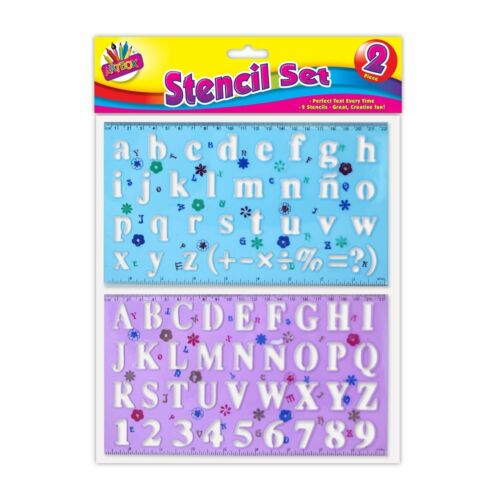 Stencils Plastic Letters Numbers Alphabet Upper /& Lower Case Stencil