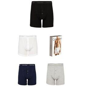 Calvin-Klein-Mens-Boxer-Shorts-Loose-2-Button-Fly-Boxers-Underwear-S-M-L-XL-XXL