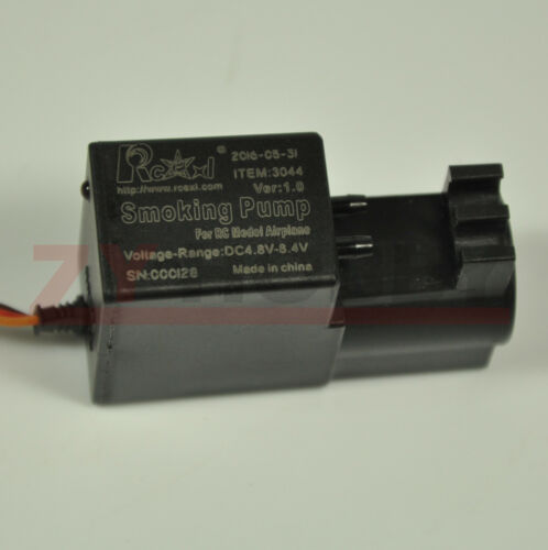 RCEXL Mini Smoke Pump Gasoline Pump Smoking Pump Adjustable Flow for RC Airplane