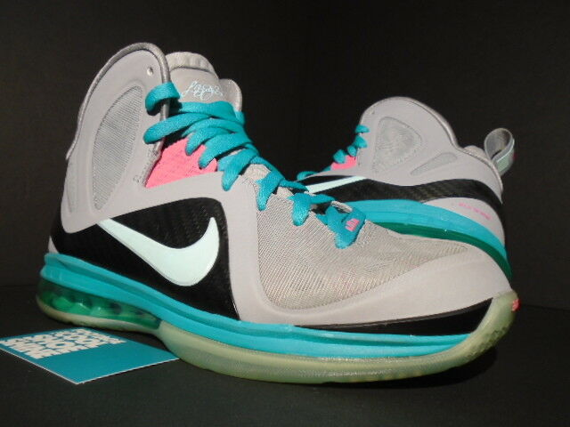 Nike Air Max LEBRON IX 9 P.S. PS ELITE PINK SOUTH BEACH PRE-HEAT MIAMI GREY PINK ELITE 8.5 a6acb5