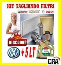 Kit tagliando olio motore CASTROL EDGE 5W30 5LT+4 FILTRI BOSCH VW GOLF 4 IV