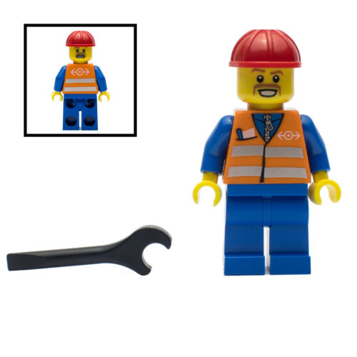 LEGO TFL Train Rail Maintenance Worker Minifigure