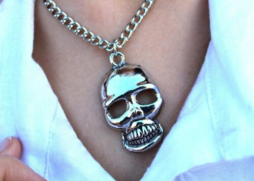 Rocker Kette Biker Totenkopf Skull Gothic Style Halloween Halskette 124629913F