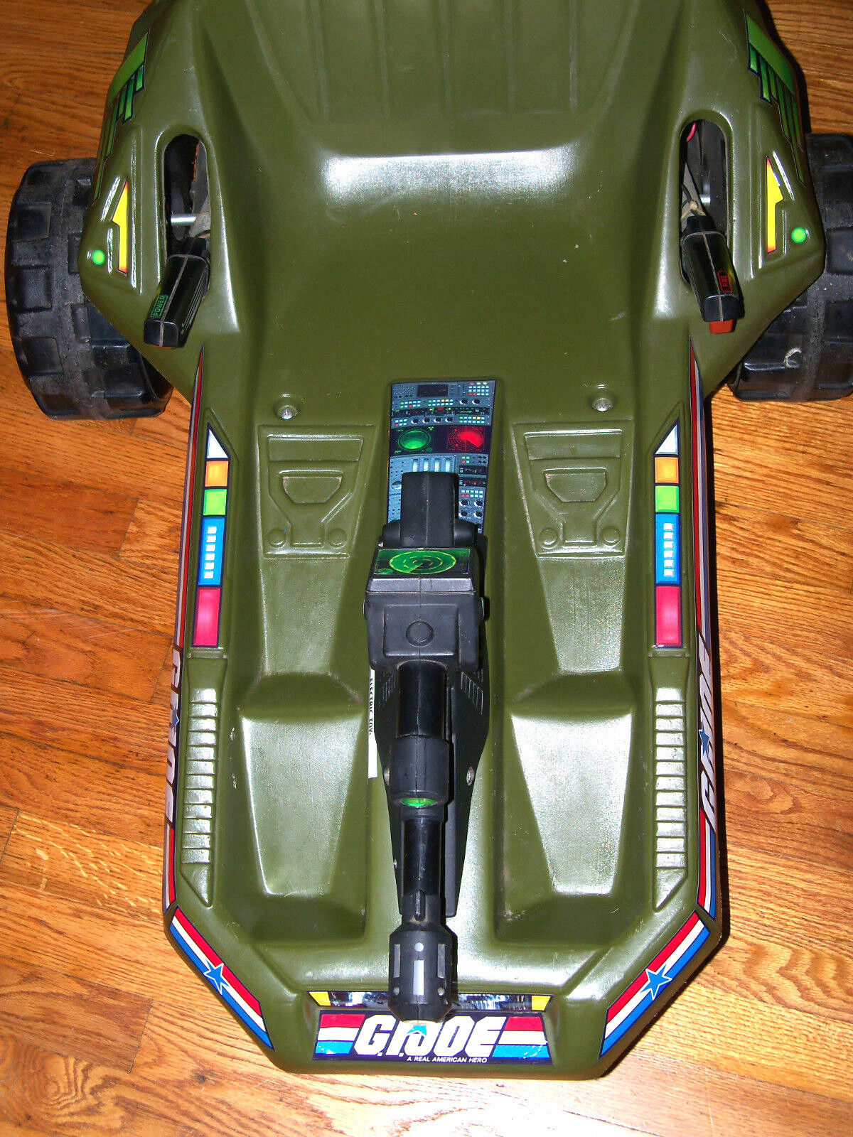 Vintage 1983 GI Joe Armored Recon Patrol Vehicle Vehicle Vehicle A.R.P.V. w  Laser Blaster 2aaac0