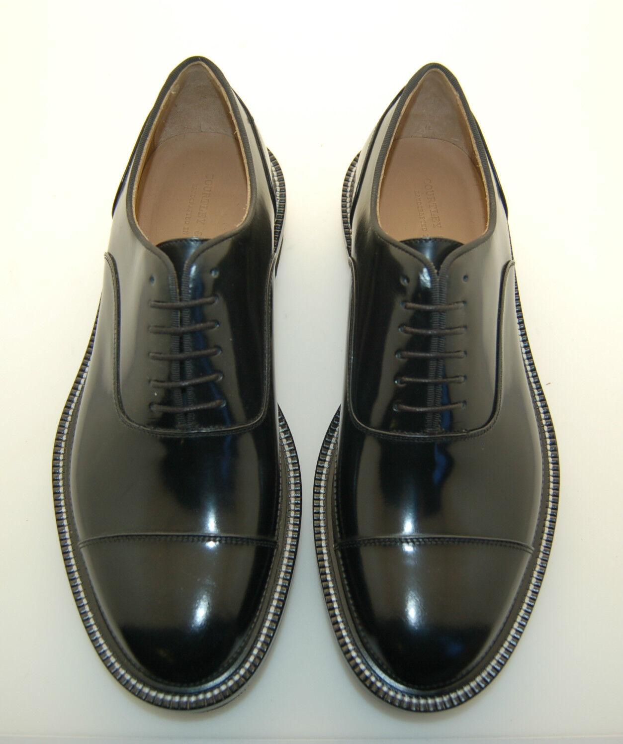 MAN - 42 - 8eu - OXFORD CAPTOE - FRANCESINA - CALF BLACK - LTHR+ RUBBER SOLE
