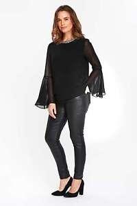 Wallis-Black-Embellished-Top-Size-UK-10-LF083-OO-05