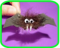 Halloween Hairy Vampire Bat girl Scout Swaps Craft Kit By Swaps4less.com