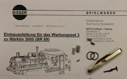 BR 89 HO Märklin Wartungsset 3 für Märklin 3000 NEU