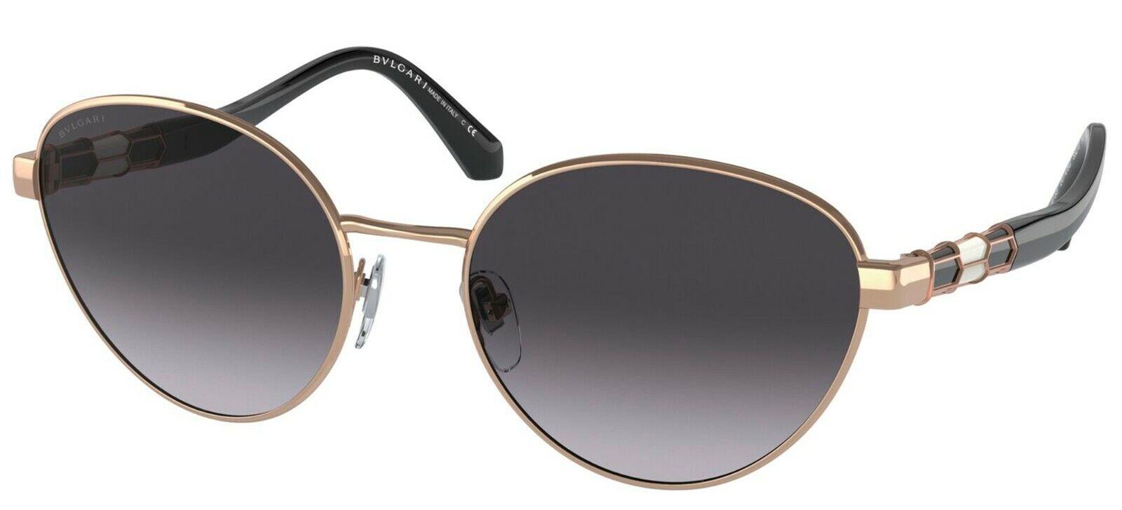 Bvlgari SERPENTI BV 6155 Rose Gold/Grey Shaded (2014/8G) Sunglasses