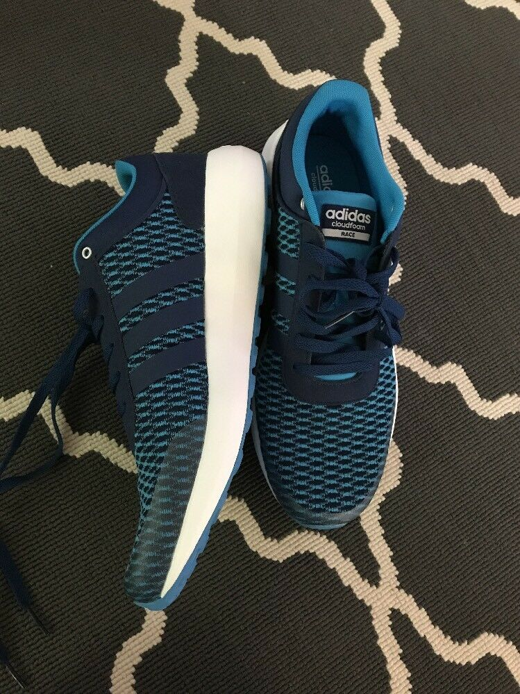 Mens Adidas Cloudfoam Race B74729 shoes Sneaker bluee Size 10.5